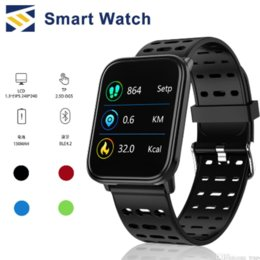 touch bracelet Promo Codes - Smart Watches T6 fitness goophone watch full screen touch heart rate blood pressure monitoring waterproof smart bracelet Android pk A6