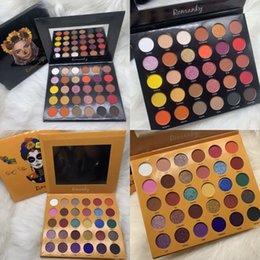 Рождественская палитра для век онлайн-Новый Romanky 30 цветов теней для век многоцветная Shimmer и матовая Eyeshadow палитр на Рождество Хэллоуин макияж