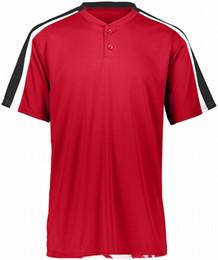 4553 000 personalizzata da baseball maglia bianco bottone dimensioni Giù Pullover Uomini Donne S-3XL da