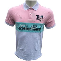 Повседневная одежда онлайн-Мужской Polos коротких рубашки Eden Park дизайн бренд рубашка Франция Мода случайный Стиль 100% хлопок с коротким рукавом лето Laple футболки тройников топы