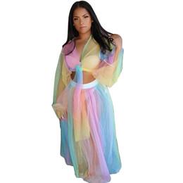 Vestito puro due pezzi online-costumi da bagno sexy taglie forti 2019 nuovo stile vedere attraverso club set costume da bagno in maglia trasparente due pezzi set