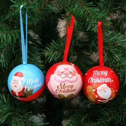 candy ball decorations Coupons - Chrismas Candy Gift Box Santa Claus Xmas Ball Chrismas Tree Hanging Decoration Kids Gifts Festival Party Supplies 08