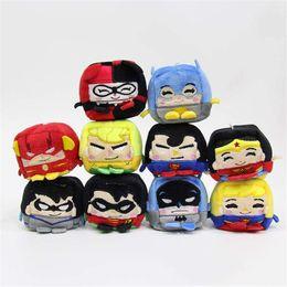 Giocattoli di peluche super eroi online-Avengers peluche ciondolo super-eroe Marvel cartone animato giocattolo piazza peluche bambola bambola gioco sacchetto di sabbia dei bambini