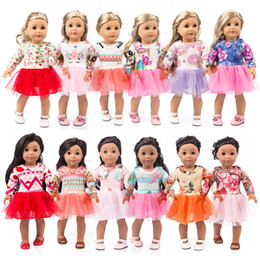 18 inch dolls for girls Coupons - 18 inch Doll Gauze Skirt Mesh Pleated Skirt one piece dress Spring Summer American Girl Doll Cloth for 18 inch American Girl