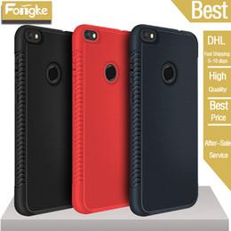 2019 huawei p8 max cubre Para Huawei P20 Pro P9 P8 Lite Mate 10 Y6 Y7 Y9 TPU suave cubierta trasera Funda para teléfono para iPhone XS MAX XR X 8 7 6s más Textura de disipador huawei p8 max cubre baratos