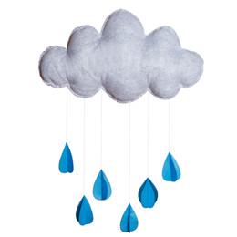 Bébé Chambre Décor Enfants Tipi Tente Décoration Jouets Pour Enfants Nordic Felt Cloud Raindrops Photographie Props Anniversaire De Noël Cadeaux ? partir de fabricateur