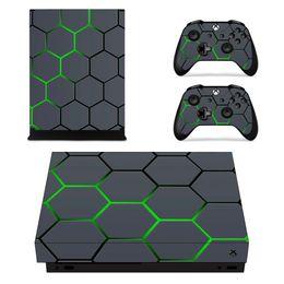 consola xbox one para Rebajas Etiqueta engomada de la piel del vinilo de Camo del cráneo de la hoja para la consola Xbox one X y la etiqueta del juego 2 del regulador