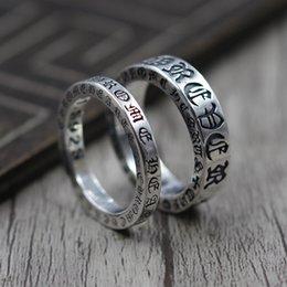 2020 paar ringe 7.5 925 Sterling Silber Schmuck Persönlichkeit für immer Paar verweist Ring Thai Silber Retro einzigartige Ring K5585 günstig paar ringe 7.5