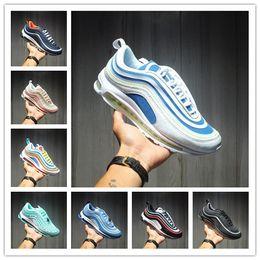 2020 хорошие вкладки 2020 Новые дизайнерские туфли 97s хороший день кроссовки SE GS Metallic Gold Silver Bullet Tab Мужчина Женская обувь Кроссовки 5.5-11 дешево хорошие вкладки