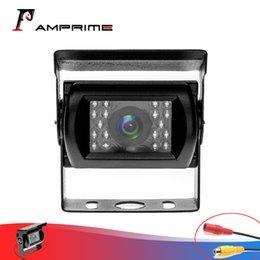 câmera traseira conduzida Desconto AMPrime câmera traseira impermeável com IR Cut 18 LED Night Vision grande angular para o caminhão Lorry Bus retirada do veículo sem carro Linha-Guia