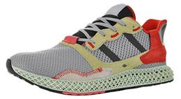 2019 arancione basso top kd Mens ZX4000 Futurecraft 4D Carbon scarpe da ginnastica per uomo ZX 4000 Sneakers maschile Scarpe da corsa Donne scarpe sportive da donna Trainer Female Sneaker Uomo