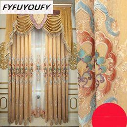2019 estores estilo casa Bordado europeu luxo de alta qualidade espessamento sala de estar quarto sombra Francês Janela de luxo Villa Voile Cortina