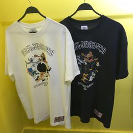 Hundet-shirt orange online-2019 Beste Version Vetements Cartoon Hunde Gedruckt Frauen Männer T shirts T-shirts Hiphop Männer Baumwolle Vetements Übergroßen T-shirt Sommer