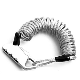 Противоугонный кабель велосипед онлайн-MTB Mountain Bicycle Code Cable Lock Road Bike Anti-theft 3 Digital Security Lock Cable Electric Password Accessories