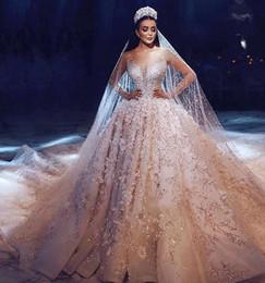 Vestido De Noiva Lüks Gelinlik Uzun Kollu 2018 Balo Boncuk Dubai Arapça Müslüman Gelinlikler Gelinlik Modelleri nereden atkı askısı tedarikçiler