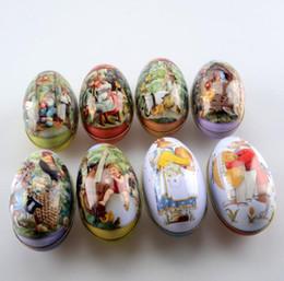 Grande scatola di immagazzinaggio di nozze del contenitore di caramella di nozze del modello dell'uovo di Pasqua di grande formato all'ingrosso 100pcs / lot SN2048 da scatole di uova di pasqua all'ingrosso fornitori