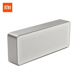 Altoparlante Bluetooth originale Xiaomi Mi Box quadrato 2 Stereo portatile Bluetooth 4.2 HD Qualità audio ad alta definizione Riproduci musica da xiaomi mi box fornitori
