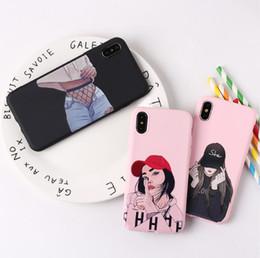 idee telefoniche Sconti Fashion Girl Set di telefoni cellulari Iphone Xs Max Xr Cover per telefono morbido colorato Nuove idee per Iphone 6 7 8 X Plus