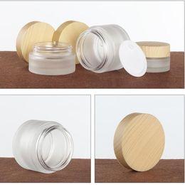 Lager parfums online-20g 30g 50g Glassahneglas kosmetische Behälter Flaschen 30ml 40ml 60ml 80ml 100ml Mattglas-Lotion-Pumpen Duftstoff-Spray-Flasche auf Lager