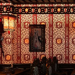 2019 обои для коридоров Chinese classical wallpaper imitation wood carving window pane wallpaper living room study hallway TV background wall covering скидка обои для коридоров