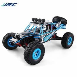 le batterie di lipo delle automobili rc Sconti Vendita all'ingrosso Q39 1:12 4WD RC Desert Truck RTR 35 km / h + Fast Speed 1 kg Servo coppia elevata 7.4V 1500mAh LiPo Batteria RC Off-road Racing Car