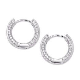 Pendientes de diamantes de las mujeres online-2019 Nueva Gran Pendiente de diamante de la CZ joyería de plata chapado en oro del perno prisionero de las mujeres de los hombres pendientes de cobre Cruz