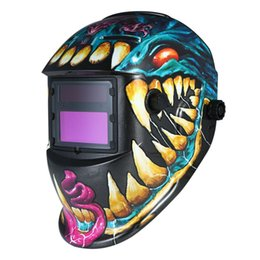 mascara de soldar Rebajas Máscara de soldador solar Casco Pro Soldadura de oscurecimiento automático Casco Sombrero Proteger los ojos Nuevas máscaras de soldadura para fiestas