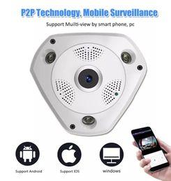 2019 piccola telecamera interna ip NUOVO fish eye WIFI 1.3MP 3.0MP 3D VR Telecamera IP a 360 gradi 360 gradi Full View 3D Panoramica VR coperta intelligente IR p2p rete wireless Telecamera