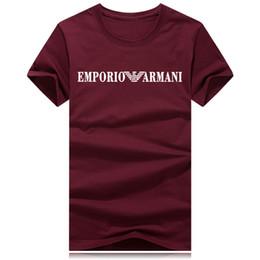 Camisa de homens de listras de estrelas on-line-Longa tarja letras assinatura estrela T-shirt top designer de luxo dos homens T-shirt em torno do pescoço respirável de manga curta T-shirt casual