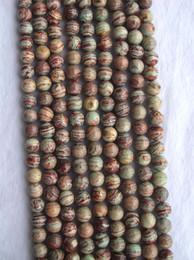 colares jaspe Desconto Arco-íris Verde Natural Veias Jasper 10mm Rodada Solta Pérolas Para Fazer Jóias DIY Pulseira Colar Brincos