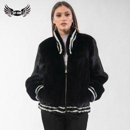 2020 casacos de peles pretos genuínos Brasão Genuine Black Fashion Inverno Casacos Mulheres de alta qualidade com Collar 2,019 real Fur Coats Mulher Overcoat casacos de peles pretos genuínos barato