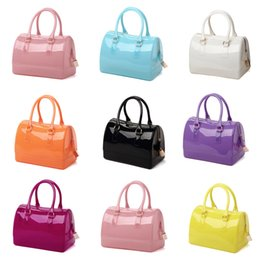 spring totes Coupons - Handbag Women Pillow Jelly Bag Quare Beach Handbags Candy Color Boston Women's Bag with Lock Spring Fashion 2019