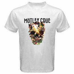 Banda branca de suor on-line-New MOTLEY CRUE O Logotipo da Banda Final dos homens T-Shirt Branca Trump suor t-shirt do sporter t-shirt das calças do ventilador camiseta medo cosplay liverpoott tshirt