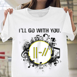 Veintiún pilotos t shirt online-Twenty One Pilots My Blood Voy a ir contigo Camiseta blanca de algodón Hombres S-6XL Camiseta masculina casual hombre tops tees Camisetas con envío gratis