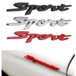 Emblema deportivo metal online-3D Chrome Badge Sticker Emblem Metal Decal para Sport Red Motors Car Racing