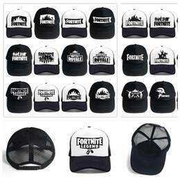 6fe2a7ed109 24 Design Adult Fortnite Hats Trucker Cap Fortnite Fans Cool Caps Summer  Baseball Net Outdoor Sports Caps Fortnite Mesh Hats 100pcs