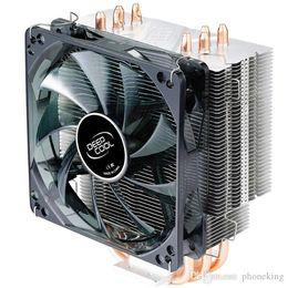 2019 fan di yaskawa 4 Heatpipe Deep Cool per Intel LGA775 / 1155/1156/1150 per AMD FM1 / FM2 / AM3 + / AM2 + CPU Radiatore CPU Fan Ice Ultimate