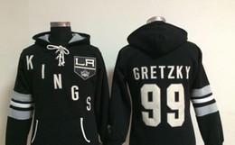 2020 hoodie do estilo do hóquei Factory Outlet, campo Ice Hockey jogo hoodies preto esporte homens novo estilo LA Kings # 99 Wayne Gretzky logotipos bordados costurados desconto hoodie do estilo do hóquei