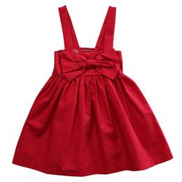 2019 vestido 3y niñas Caliente 0-3Y Vestido de Fiesta Vestido de Niña Bebé Vestido Mini Rojo Formal Big Bow Backless Vestido de Princesa Vestido 2017 Nuevo para niña rebajas vestido 3y niñas