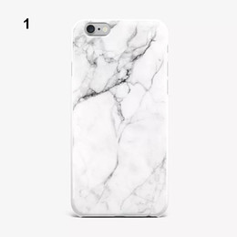 étui iphone couverture de gel mat Promotion Cas de téléphone de marbre de mode IMD Silicone pour iPhone 8 7 6 6 S Plus ultra-mince matte doux TPU Gel Protecteur de cas couvre Shell