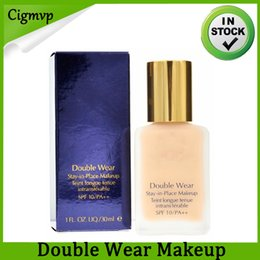 top place Promo Codes - Wholesale Top Quality Maquillage Makeup Foundation Double Wear DW Stay-in-Place Makeup Liquid Foundation Brands 30ml DHL Free Shipping