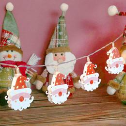 guirlanda de metal Desconto 10LED metal dupla face Papai Noel Pisca-Pisca LED Garland Box bateria do dispositivo de Ano Novo Decorações de Natal para o Natal Home quente