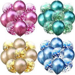 2019 decoraciones de fiesta de cumpleaños de lujo 8 Estilos de Decoración brillante del banquete de boda del cumpleaños de las lentejuelas Traje Color del globo metal globo de látex de lujo