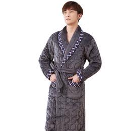 3fe23dd408 J Q new male winter robes high quality thicken bathrobes mens kimono badjas  Terry robe peignoir homme pyama mannen home wear men