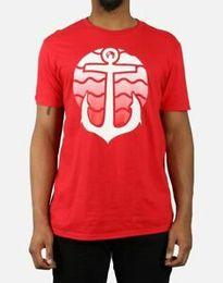 camisa roja del ancla Rebajas Pink Dolphin Anchor para hombre Sunset S T Shirt Red XL Nuevo