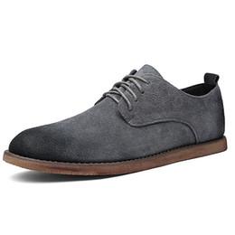 Argentina Venta caliente Nuevo Negocio Casual Hombres Zapatos Diseñador de Goma Negro Punta estrecha Verano Cepillo Barato Lace Up Suede estilo británico cheap rubber shoes for sale Suministro