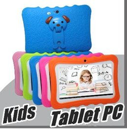 2019 huawei carte unique Enfants Marque Tablet PC 7 pouces Quad Core enfants tablette Android 4.4 Allwinner A33 google joueur wifi grande enceinte housse de protection Dhl