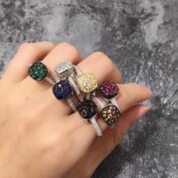 anillos de dedo personalizados Rebajas ZOZIRI anillo de diseño de lujo pomo nudo cz caramelo para las mujeres, Fashio anillo del dedo de circón marca de joyería de cristal de forma cuadrada itay