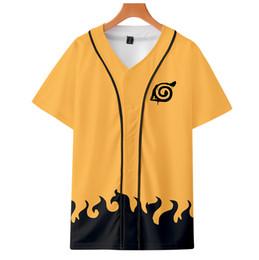 2019 plus größe naruto kostüme Neue Verkauf Anime 3D Druck T-shirt Naruto Yondaime Hokage Kostüm Streetwear Harajuku Tops Tees 4XL Plus Größe Unisex Camiseta günstig plus größe naruto kostüme