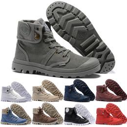 2019 botas de peluche piernas Las más nuevas botas Palladium Martens para mujeres Hombres Classic Triple White Black Winter Boot womens Trainers mens Army Green Tobillo Botines talla 36-45